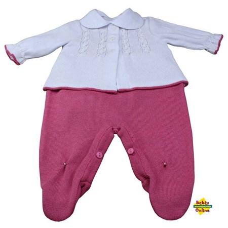 Conjunto Pérolas em tricot com body golinha branca - 3 itens