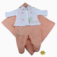 Saída de Maternidade  Árvore com borboletas em tricot com body gola floral - PP
