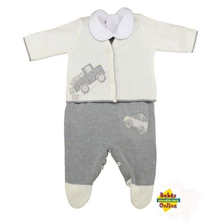 Conjunto Carros em tricot  com body golinha - 3 itens