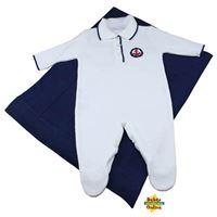 Saída de Maternidade em tricot Marinheiro  Polo - PP - 2 itens