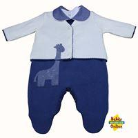 Conjunto Girafinha em tricot com body - 3 itens - PP