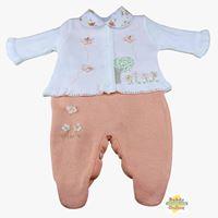 Conjunto Árvore com borboletas em tricot com body golinha floral - PP - 3 itens