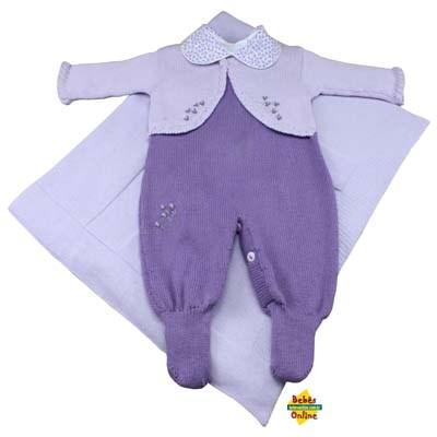 Sa�da de Maternidade maca��o bolero com body golinha floral